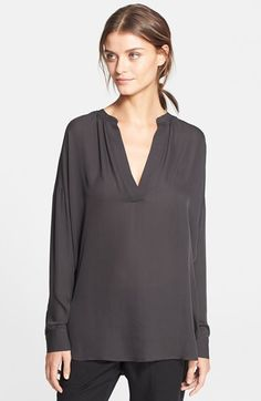 Vince Silk Popover Blouse available at #Nordstrom