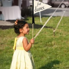 """flower girl or ring bearer pennant flag #wedding. """"Here Comes The Bride"""" www.theritzyrose.com $24-$36"""