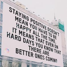 Motivation feel better positive doesnt mean happy Motivacional Quotes, Mood Quotes, Cute Quotes, Best Quotes, Qoutes, Wisdom Quotes, Pretty Words, Cool Words, Wise Words