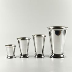 Small,Med,Lg. and XLg Silver Aluminum Mint Julep Cup Vases - Wholesale Flowers and Supplies