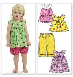 SUMMER CLOTHES PATTERN For Toddlers and by WhatCameFirst on Etsy