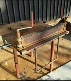 Pliage Tole, Metal Furniture, Furniture Design, Homemade Tools, Workshop Ideas, Rollers, Metals, Welding Tools, Garden