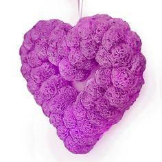 Valentines day wreath, Valentines day decor, Wedding wreath, Wedding decor, Baby girl wreath, Baby shower wreath, Purple heart wreath by WreathsByHris on Etsy https://www.etsy.com/ca/listing/217449427/valentines-day-wreath-valentines-day