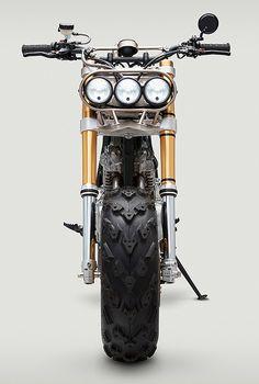 The big 'F— You': Classified Moto's Honda XR650L via Bike EXIF More bikes here.