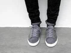 ETQ Amsterdam F/W 2013 Grey Sneakers, Suede Sneakers, Joggers Outfit, Brogues, Chuck Taylor Sneakers, Casual Shoes, Men's Shoes, Menswear, Footwear