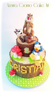 Chip & Dale and Donald  Duck  by Azzurra Cuomo Cake Art