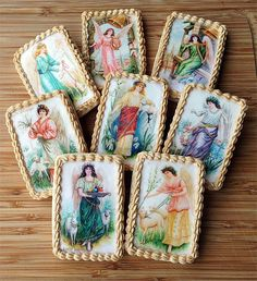 Easter ANGELS Wafer Papers for Cookies  Victorian
