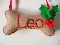 If you are like me, your pets are part of your family. Here is a cute little Christmas ornament to show that you are remembering your furry friend during the holidays. This would look cute hanging from a tack, on Fidos leash hook in the mud room, or, of course, on your Christmas tree!