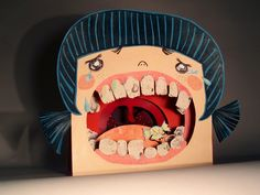 tunnel book little girl tooth