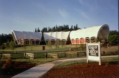 The End of the Oregon Trail Interpretive Center is located on Abernethy Green in Oregon City, Oregon. At the end of the Oregon Trail, this state-of-the-art center uses living history interpretations and multimedia dramatizations to vividly depict the pioneers' journey to Oregon.