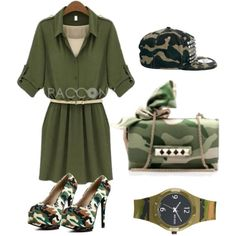 """Cool Camouflage Outfit"" by pacconylois on Polyvore"