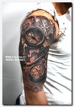 tattoo designs 100 Awesome Compass Tattoo Designs