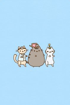 Kawaii kitten party! Pusheen, doctor cat, nyan cat and more