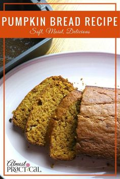 This pumpkin bread recipe is so soft, moist, and delicious that it practically melts in your mouth. It's perfect for Thanksgiving or any other time of year.