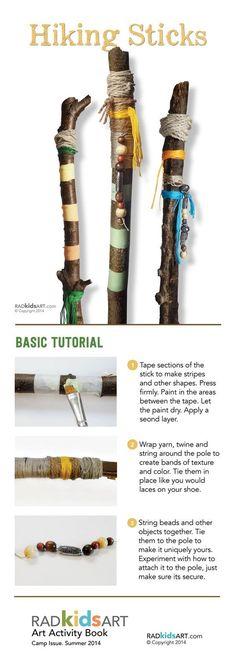 DIY Hiking Sticks