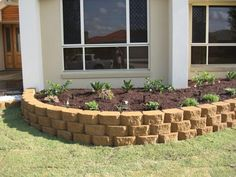 Garden Block Wall Ideas rounded river stone wall Link Block Garden Wall