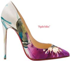 Christian Louboutin floral Pigalle Follies Fall 2014 collection