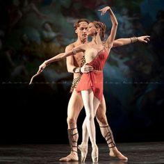"""Anastasia and Denis Matvienko in """"Diana and Acteon"""" at Dance Open 2010 /photo by Nikolay Krusser."""