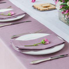 Amazon.com - Heather Lavender Lilac Linen Table Runner 14x90 -