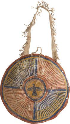 American Indian Art, Northern Plains Painted Hide Shield, Circa Third Quarter NineteenthCentury. ... Image #1