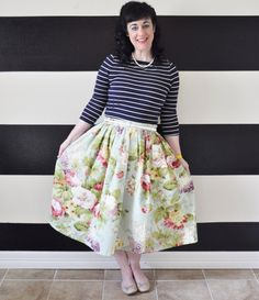 Floral Midi Skirt Mini Skirt or Maxi Ball skirt  by SandeeRoyalty, $70.00