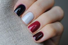 Fall Nail Designs, Autumn Nail Arts, Autumn nails are just as versatile as other seasons, give these ideas a try this season , you will love Burgundy Nails, Blue Nails, White Nails, Red Burgundy, Oxblood Nails, Magenta Nails, Nails Polish, Coffen Nails, Fall Nail Designs