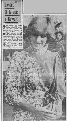 May 24,1983:  Princess Diana pictured arriving at London's Dorchester Hotel, where Prince Charles was presenting the National Hunt Jockey Awards.