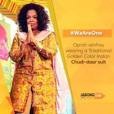 Even the Richest African-American of the 20th century and the #QueenofMedia #OprahWinfrey could not avert the fragrance of #IndianCulture. #WeAreOne #ChudidaarSuit #JabongWorld http://www.jabongworld.com/women/kurtis.html?dir=desc&order=position&ref=newnav&utm_source=ViralCurryOrganic&utm_medium=Pinterest&utm_campaign=weareone-23-April2015