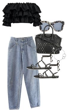 """""""Untitled #21749"""" by florencia95 ❤ liked on Polyvore featuring Illesteva, Boohoo, Givenchy, Rebecca Minkoff and Chupi"""