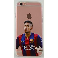 Neymar Soccer Barcelona iPhone 6/s and 6/s Plus Graphic Image Transparent Cell Phone Protective Case (Neymar, iPhone 6s PLus)