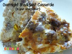 Overnight Breakfast Casserole {In your slow cooker!} http://fabulesslyfrugal.com/?p=171618