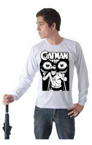 Camiseta Catman, Cores e Tamanhos Variados, Algodão.