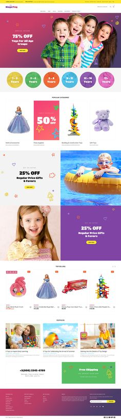 Magic Toys For Kids Online Store #Magento #template. #themes #business #responsive #webshop #Magentothemes