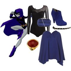 Teen+Titans+Raven+without+Hood | fashion look from December 2009 featuring Illustrated People, Steve ...