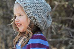 Child Chunky Crochet Slouchy Beanie $20.00