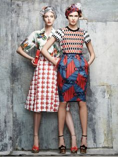 These colors, these outfits, the pattern mixing. Gush. Look fashionable and be comfortable.!