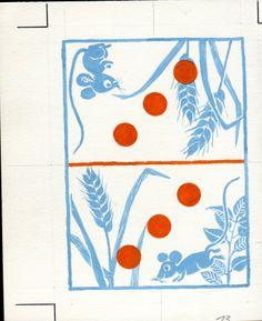 backside of card game for children - art by D. Elsner - Schwintowsky