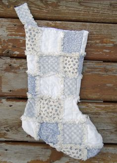 Rag Quilted Christmas stocking featuring Downton Abby fabric buy 2 save 10 by regandags on Etsy