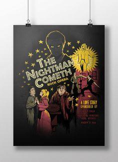 The Nightman Cometh signed poster  11x17 by MeganLaraArt on Etsy
