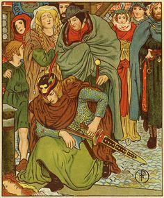 Howard Pyle - The Lady of Shalott - 1881.