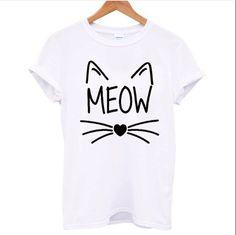 Meow White T Shirt – Fresh-tops.com