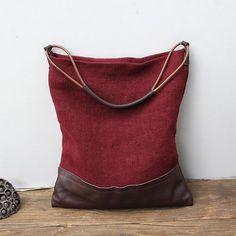 Canvas Bag, Canvas Shoulder Bag, Daily Bag, Womens Shoulder Bag YY-006