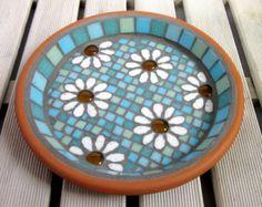 Moonlight Ripple Mosaic Bird Bath Garden Ornament by JoSaraUK