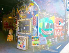 Shutter graffiti at Shimokita Garage department Tokyo |curlytraveller.com