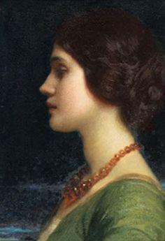 British Paintings: (Sir) Frank Dicksee - Portrait of Dora