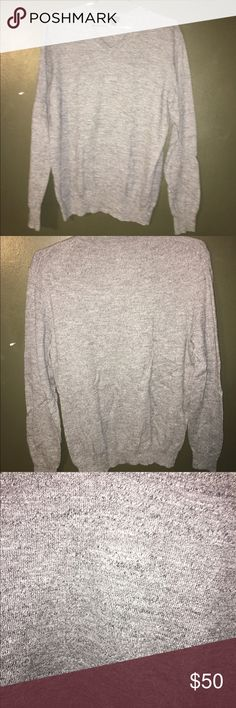 JCrew Men's Gray Sweater Medium Soft cotton gray JCrew sweater. Wore it once. In really great condition. J. Crew Sweaters V-Neck