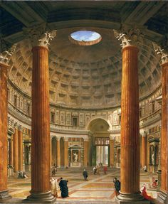 Giovanni Paolo Pannini, 1691-1765, Interior of the Pantheon, Rome, 1732, Private collection