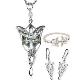 THE LORD OF THE RING EARRINGS ELVEN LEAF DUO SET ARWEN EVENSTAR HOBBIT COSPLAY