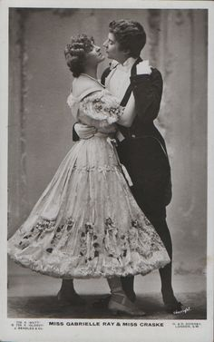 Miss Gabrielle Ray and Miss Craske, London c. Early 1900s