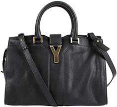 Saint Laurent Women's Black Leather Ligne Y Crossbody Bag 400666 1000 Leather Crossbody, Crossbody Bag, Saint Laurent Handbags, Tote Handbags, Zip Around Wallet, Black Leather, Amazon, Ysl, Luxury